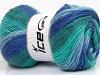 Angora Print Turquoise Shades Blue Shades