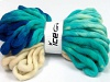 Jumbo Superwash Wool Print Turquoise Cream Blue