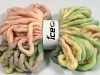 Jumbo Superwash Wool Print Pink Shades Green Shades Cream