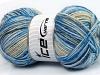 Wool Sport Print Camel Blue Shades