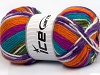 Favorite Ethnic White Turquoise Orange Lilac Green Fuchsia