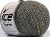 Wool Linen Tweed Gökkuşağı Gri Krem