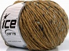 Wool Cord Aran Light Brown Blue Shades
