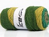 Wool Print Chunky Khaki Green Shades