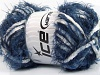 Techno Chenille White Navy Blue