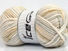 Soft Touch Bulky Print White Light Grey Khaki Beige