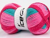 Design Wool Worsted Turquoise Pink Shades Lilac