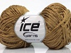 Viscose Ribbon Shine Light Brown Gold