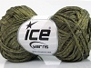 Viscose Ribbon Shine Khaki Green