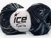 Cotton Chenille Fine Navy Grey Blue