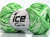 Viscose Shine Bulky White Light Green