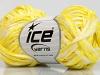 Viscose Shine Bulky Sarı Beyaz