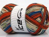 Design Sock Orange Cream Blue Anthracite