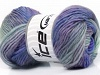 Marvelous Pure Wool Lilac Grey Blue Shades