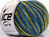 Wool Cord Aran Yellow Green Shades Blue Shades