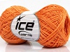 Sale Summer Orange Linen Cotton Natural Yarn