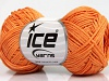Sale Summer Light Orange Linen Cotton Natural Yarn