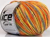 Wool DK Color Yellow Orange Grey