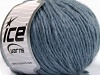 Wool Cord Aran Light Blue Melange