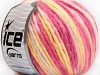 Wool Cord Aran Yellow White Pink Shades