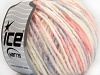 Wool Cord Aran White Light Salmon Light Lilac