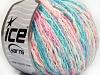 Pastel Cotton White Turquoise Pink