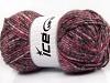 Wool Melange White Pink Shades Grey