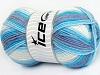 Baby Wool Design White Lilac Blue