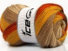 Merino Batik Orange Gold Camel Brown Shades