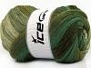 Merino Batik Khaki Green Shades