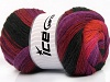 Merino Batik Purple Pink Orange Burgundy Black