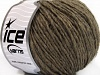 Wool Cord Aran Brown Melange