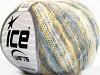 Kid Mohair Flamme Yellow White Blue