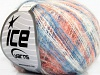 Kid Mohair Flamme White Salmon Blue