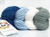 Art Color Cotton White Light Blue Grey Blue