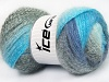 Mohair Pastel Turquoise Grey Shades Blue