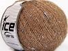 Wool Glitz Superfine Silver Light Brown Gold