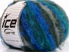 Kan Mohair Turquoise Grey Shades Blue
