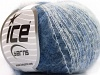 Kid Mohair Fine White Blue Shades