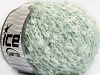 Wool Cotton Boucle White Light Blue