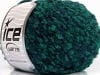 Boucle Wool Worsted Navy Green