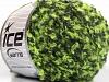 Boucle Wool Worsted Neon Green Dark Grey