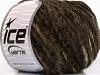 Chenille Wool Flamme Dark Brown Black