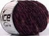 Chenille Wool Flamme Red Purple Black