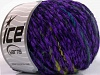 Chenille Wool Flamme Lavender Green Shades Black
