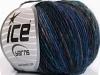 Magic Wool Worsted Purple Blue Shades Black