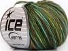 Magic Wool Worsted Green Shades Brown