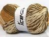 Jacquard Wool Light Brown Cream Camel