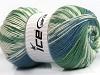 Jacquard Wool Green Cream Blue