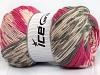 Jacquard Wool Pink Grey Cream